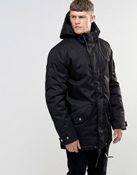 Bellfield Short Padded Parka With Magnetic Fastening Black
