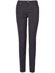 Phase Eight Victoria Jacquard Skinny Jeans Blue