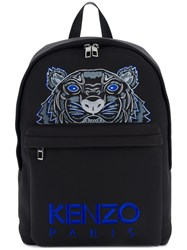 Kenzo Tiger Embroidery Backpack Black