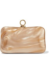 Halston Heritage Marble Effect Acrylic Clutch Gold