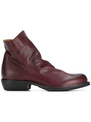 Fiorentini Baker Zipped Ankle Boots Red