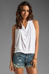 Michael Stars Draped Halter White