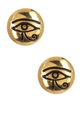 Alex And Ani Sacred Studs Eye Of Horus Earrings Yellow