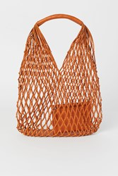 Handm H M Leather Net Bag Orange