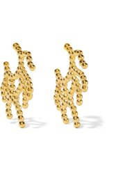 Arme De L'amour Coral Gold Plated Earrings One Size