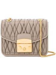 Furla Metropolis Quilted Shoulder Bag Grey