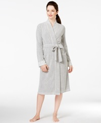 Charter Club Boucle Kimono Robe Bright White