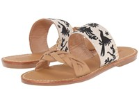 Soludos Braided Slide Sandal Otomi Embroidery Sand Black Women's Sandals Brown