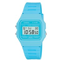 Casio Unisex Core Digital Chronograph Rectangular Dial Rubber Strap Watch Blue