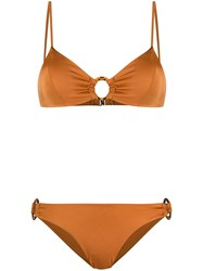 Mc2 Saint Barth Juca Ring Detail Bikini Orange