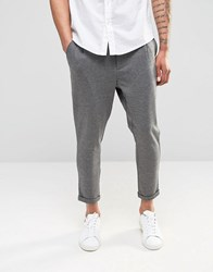 Only And Sons Jersey Cropped Chino Light Grey Marl