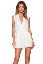 Shades Of Grey Wrap Romper White