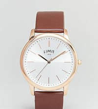 Limit Brown Leather Watch Exclusive To Asos