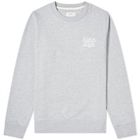 Saturdays Surf Nyc Bowery Script Crew Sweat Grey