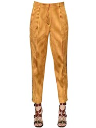 Etro Striped Textured Silk Pants