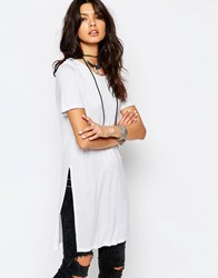 Noisy May Midi Tunic With Side Split Detail Bright White