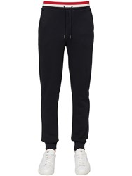 Moncler French Flag Cotton Jersey Sweatpants Navy