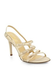 Kate Spade Sally Satin Slingback Sandals Champagne