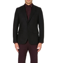 Reiss Belhurst Single Breasted Wool Jacket Black