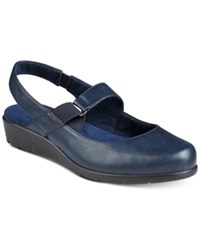Easy Street Shoes Chessa Mary Jane Flats Women's Navy