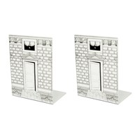 Fornasetti Porta Black And White Bookends Set Of 2