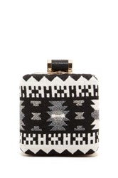 Pink Haley Zoe Aztec Print Clutch Black