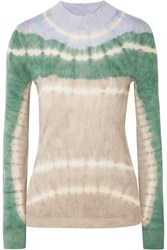 Missoni Tie Dyed Alpaca Top Gray Green