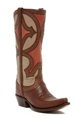 Lucchese Mosaic Persian Art Cowboy Boot Brown
