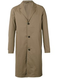 Stutterheim Classic Midi Coat Men Cotton Polyurethane Xl Brown