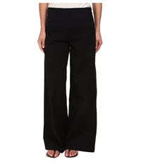 Xcvi Fold Over Palazzo Black Women's Casual Pants