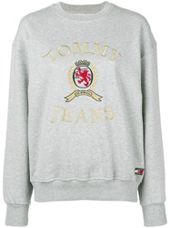 Tommy Jeans Embroidered Logo Sweatshirt Grey