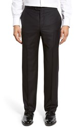 Hickey Freeman Men's Flat Front Wool Formal Trousers