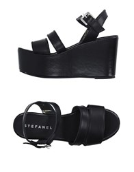Stefanel Footwear Sandals Women Black
