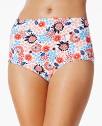 Tommy Hilfiger Floral Print High Waist Bikini Bottoms Women's Swimsuit Multi
