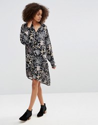 Only Floral Shirt Dress Black
