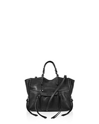 Kooba Everette Mini Leather Satchel Black Gunmetal