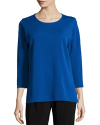 Caroline Rose 3 4 Sleeve Flat Wool Knit Top