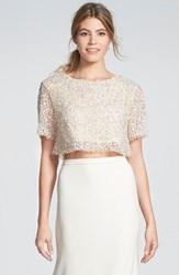 Women's Sarah Seven 'Delancy' Sequin Crop Top