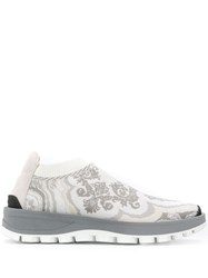 Etro Patterned Low Top Sneakers White