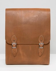 Leather Satchel Company Rounded Medium Backpack In Oak Oak Tan
