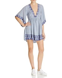 Hazel Plunging Embroidered Peasant Dress Compare At 95 Denim
