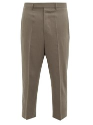 Rick Owens Astaires Cropped Wool Trousers Grey