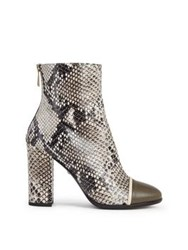 Just Cavalli Snake Print Ankle Boot Grey