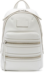 Marc By Marc Jacobs Ivory Leather Domo Biker Backpack