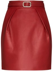 Alexandre Vauthier Crystal Embellished Leather Mini Skirt 60