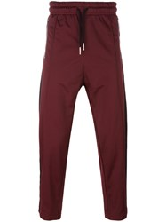 Diesel Drawstring Track Pants Red