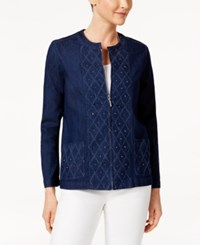 Alfred Dunner Scenic Route Embellished Denim Jacket