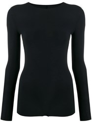 Maison Martin Margiela Long Sleeved Jersey Bodysuit Black