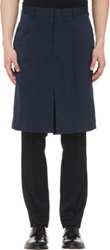 Duckie Brown Tech Taffeta Skirt Blue