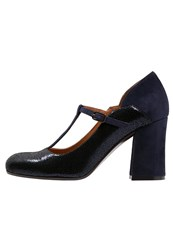 Chie Mihara Tipito Classic Heels Navy Nuit Dark Blue